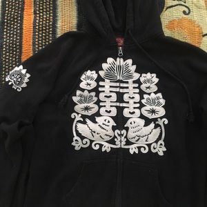 Lucky Brand Embroidered Hooded Sweatshirt